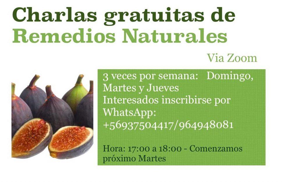 Charlas Gratuitas de Remedios Naturales